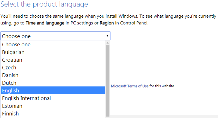 Windows 8.1 language