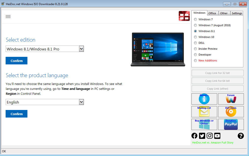 You can get Windows 8.1 free download by using a free third-party tool